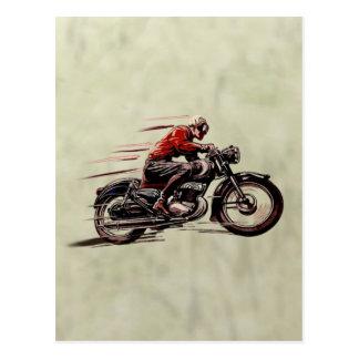 クラシックな競争のオートバイ ポストカード