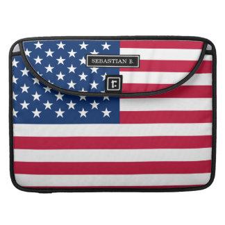 クラシックな米国旗 MacBook PROスリーブ
