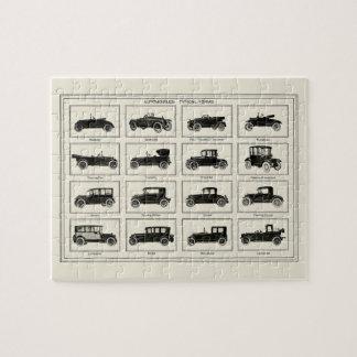 クラシックな自動車車の図表のヴィンテージの芸術のコレクター ジグソーパズル