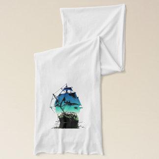 クラシックな船 スカーフ