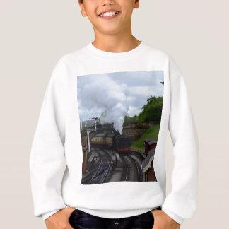 クラシックな蒸気の列車 スウェットシャツ