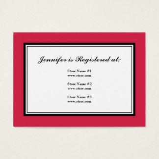 クラシックな赤のタキシードの登録カード 名刺