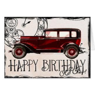 クラシックな車の誕生日 カード