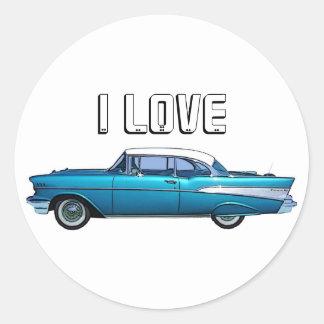 クラシックな車の1957年のChevy BelAireのカスタムのステッカー ラウンドシール