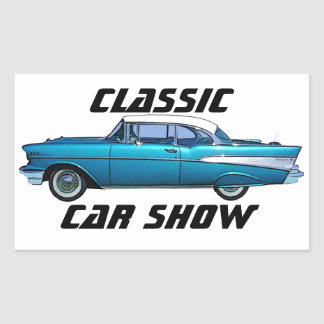 クラシックな車の1957年のChevy BelAireのカスタムのステッカー 長方形シール