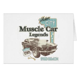クラシックな車の~筋肉車の伝説 グリーティングカード