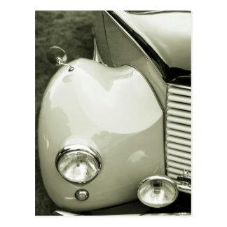 クラシックな車白黒写真 葉書き