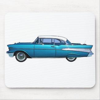 クラシックな車1957年のChevy BelAire マウスパッド