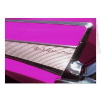 クラシックな車: シボレーBel Air グリーティングカード