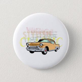 クラシックな車、茶色の古いシボレーBel Air 5.7cm 丸型バッジ