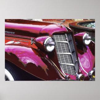 クラシックな車: 金褐色 ポスター