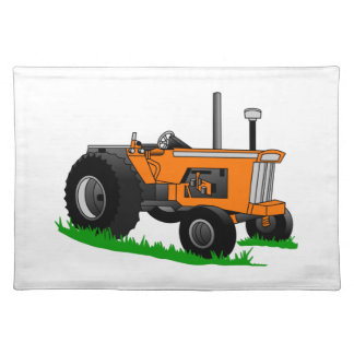 クラシックな農場トラクター ランチョンマット