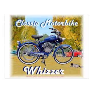 クラシックな遠心脱水機のモーターバイク ポストカード