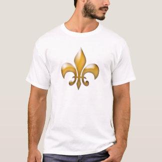 クラシックな金ゴールドの(紋章の)フラ・ダ・リのTシャツ Tシャツ