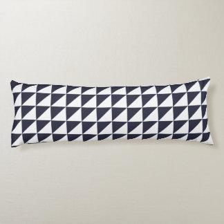 クラシックな青のモダンで幾何学的な抱き枕 ボディピロー