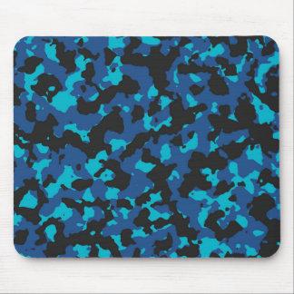 クラシックな青スキューバ青いカムフラージュのプリントPANTONE マウスパッド