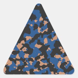 クラシックな青砂岩カムフラージュパターン 三角形シール
