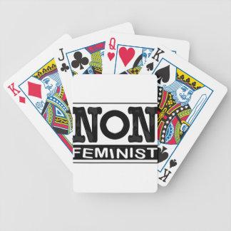 クラシックな非男女同権主義のロゴ バイスクルトランプ