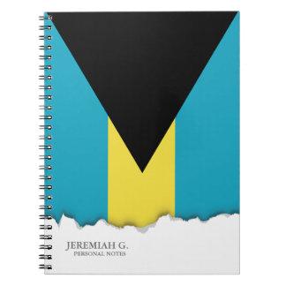 クラシックなBahamianの旗 ノートブック