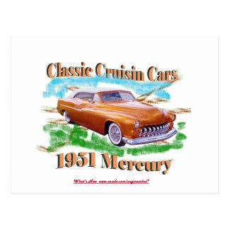 クラシックなCruisin車の1951年の水星 ポストカード