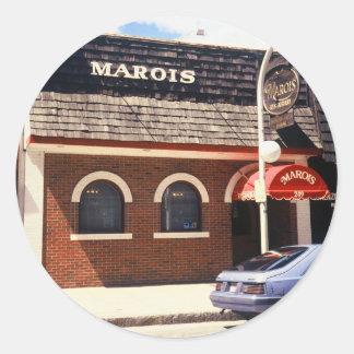 クラシックなMAROISのレストランのデカール ラウンドシール