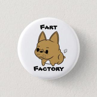 クラシックなRoccoの屁の工場ボタン 3.2cm 丸型バッジ