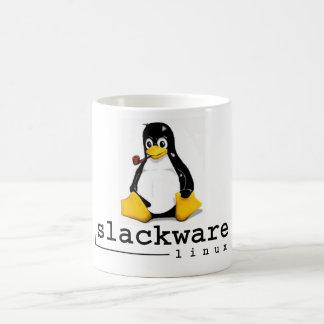 クラシックなSlackwareのLinuxのタキシード コーヒーマグカップ