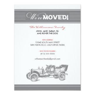 クラシックカー家族の移動発表(灰色) カード