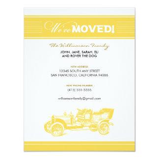 クラシックカー家族の移動発表(黄色) カード