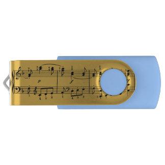 クラシック音楽のノートUSBのフラッシュドライブ USBフラッシュドライブ