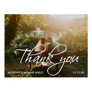 クラシック2の写真の結婚式は原稿の郵便はがき感謝していしています ポストカード