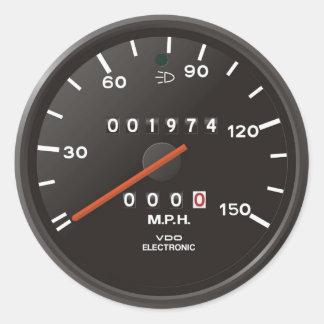 クラシック911の速度計(古いエア冷却された車) ラウンドシール