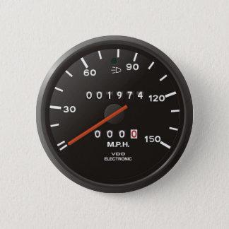 クラシック911の速度計(古いエア冷却された車) 缶バッジ