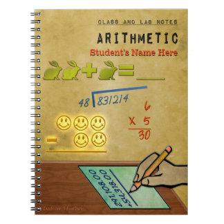 クラスおよび実験室のノート-算術(名前入りな) ノートブック