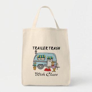 クラスが付いているトレーラパークの屑 トートバッグ
