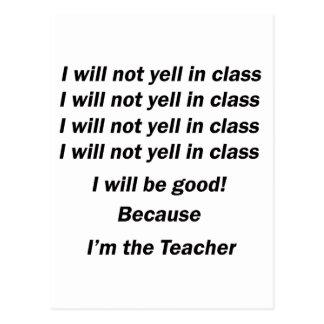 クラスで叫ぶこと ポストカード