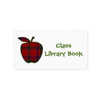 クラスの図書館のエクスリブリス ラベル