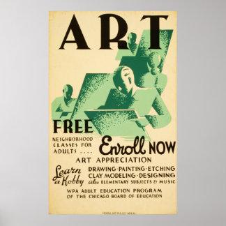 クラスの投げ矢のLibresのヴィンテージWPA 1936年のポスター ポスター