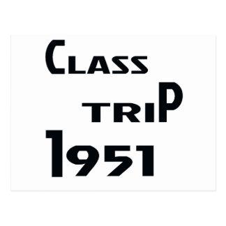 クラス旅行1951年 葉書き