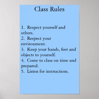 クラス規則 ポスター