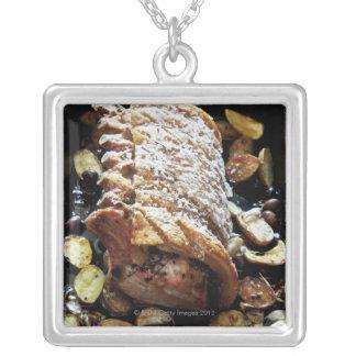 クラックリング、ポテトが付いているオーブンのRoasteのzporkの腰部 シルバープレートネックレス