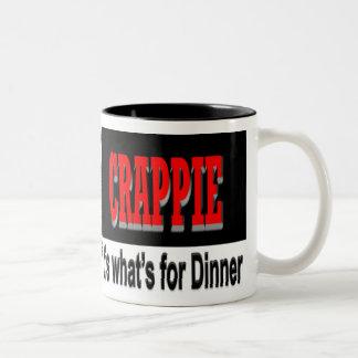 クラッピーそれはであるものが夕食のマグのためです ツートーンマグカップ