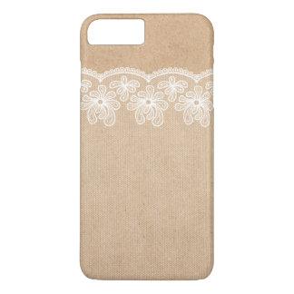 クラフトおよびレースの素朴な結婚の花嫁 iPhone 8 PLUS/7 PLUSケース