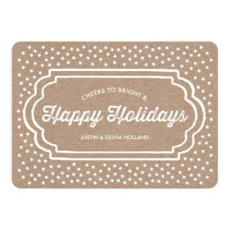 クラフトのスターバスト|の休日の写真カード カード