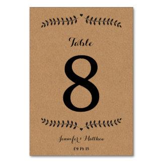 クラフトのテーブル数/結婚式のテーブル数クラフト カード