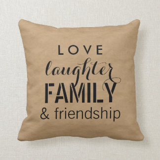 クラフトの一見の愛笑い声の家族そして友情 クッション