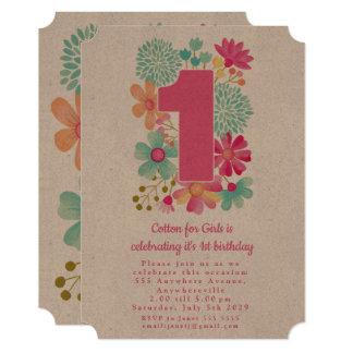 クラフト第1 Anniversary Birthday Companyのパーティー カード