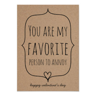 クラフト紙のかわいいハートのおもしろいなバレンタインデー カード