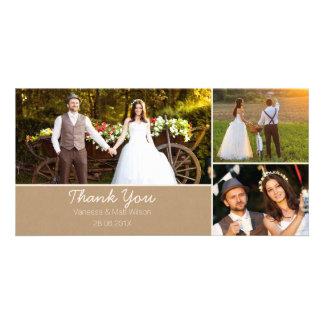 クラフト紙の結婚式は写真カード感謝していしています カード
