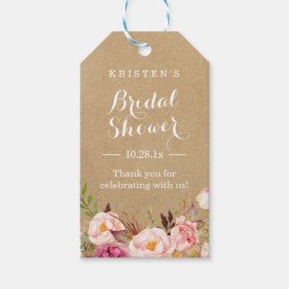 クラフト素朴な花の|のブライダルシャワーは感謝していしています ギフトタグ